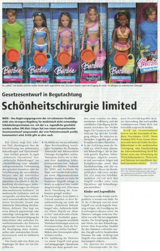 Medical Tribune: Schönheitschirurgie limited